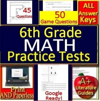 6th Grade Engage NY Math Practice Tests AND Games Bundle!