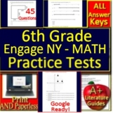 6th Grade Engage NY Math Test Prep Practice - Print and Paperless