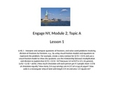 6th Grade Engage New York Module 2, Lesson 1 support lesson