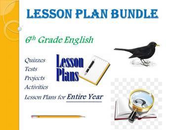 6th Grade English Annual Lesson Plan Bundle (Entire Year - 42 Weeks)
