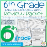 6th Grade English Review Packet, Summer Packet |Distance Learning