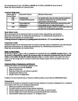 6th Grade English and History Core Syllabus