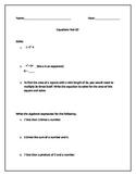 6th Grade Equations Test