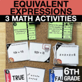6th Grade Equivalent Expressions   6th Grade Math Centers