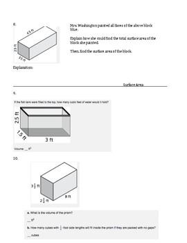 6th Grade Everyday Mathematics / EDM (4) / Math Unit 5 Test Review and Key