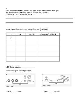 6th Grade Everyday Mathematics / EDM (4) / Math Unit 6 Test Review and Key