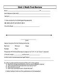6th Grade Everyday Mathematics / EDM (4) / Math - Unit 1 T