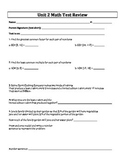 6th Grade Everyday Mathematics / EDM / Math - Unit 2 Test Review