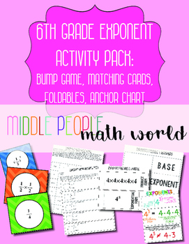 6th Grade Exponent Activity Pack