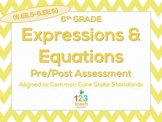 6th Grade Expressions & Equations (6.EE.5 - 6.EE.9) Common Core Test Assessment