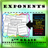 6th Grade Math – Expressions and Equations – Exponents