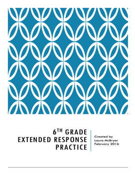 6th Grade Extended Response Practice