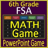 6th Grade FSA Math Test Prep - Jeopardy Style Math Game for PowerPoint - Florida