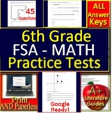 6th Grade FSA Math Test Prep Practice - Print and Paperless for Florida