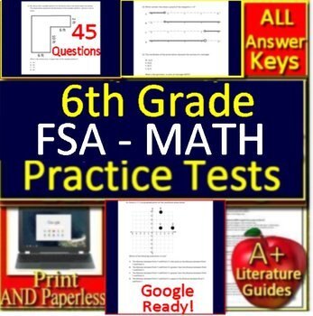 6th Grade FSA Math Test Prep Practice - Print and ...