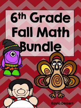 6th Grade Falloween Math Bundle