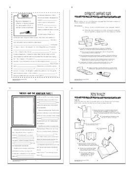 Figurative Language Lesson, Activities, and TWO Figurative Language Worksheets