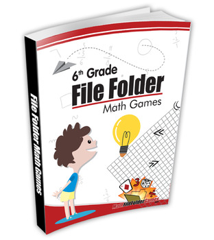6th Grade File Folder Math Games + Middle School File Folder Math Games