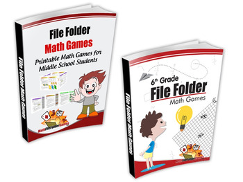 6th Grade File Folder Math Games + Middle School File Folder Math Games