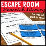 Financial Literacy Escape Room: Checking Accounts, Credit/