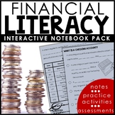 6th Grade Financial Literacy Interactive Notebook Set | Di