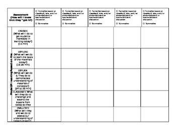 6th Grade Florida Science Lesson Plan Template