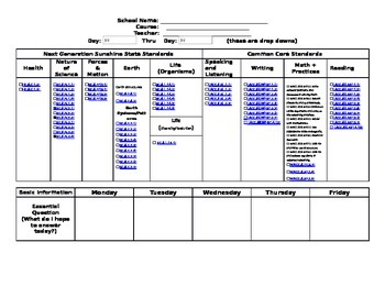 Th Grade Florida Science Lesson Plan Template By Cheri Wroblewski - Lesson plan template florida