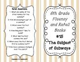 6th Grade Fluency and Retell Books - #15