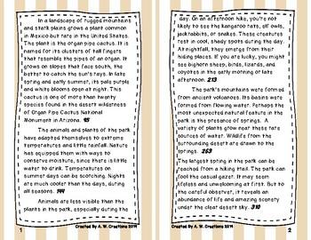 6th Grade Fluency and Retell Books - #6