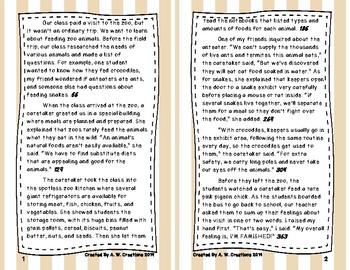 6th Grade Fluency and Retell Books - #7