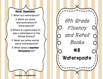 6th Grade Fluency and Retell Books - #8
