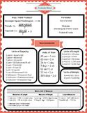 6th Grade Formula Sheet