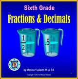 6th Grade Fractions and Decimals Powerpoint Lesson