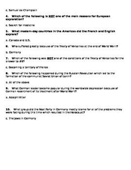 6th Grade GPS Social Studies Quizzes (Europe)