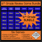 6th Grade Game Show Review Games BUNDLE