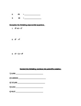 6th Grade General Math Practice