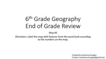 6th Grade Geography Georgia Milestones Review Game (Geogra