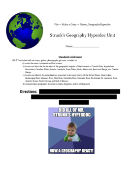 6th Grade Geography Hyperdoc