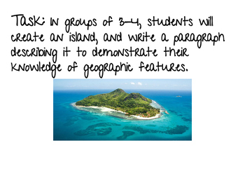 6th Grade Geography Performance Task