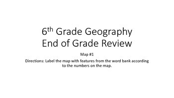 6th Grade GA Milestones Review Geography Scavenger Hunt Map Number One