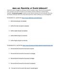 6th Grade Geometry Area/Perimeter Webquest Definitions and Formulas