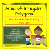 6th Grade Geometry: Area of Irregular Polygons
