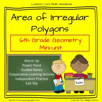 6th Grade Geometry: Area of Irregular Polygons