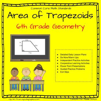 6th Grade Geometry: Area of Trapezoids