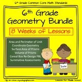 6th Grade Geometry - 8 Week Comprehensive Unit of Geometry Standards plus PBL