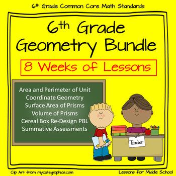 6th Grade Geometry - 8 Week Comprehensive Unit of Geometry Standards plus PBL