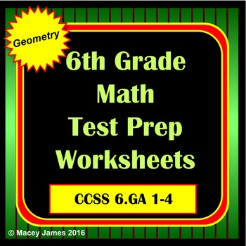 6th Grade Geometry Test Prep for the Common Core
