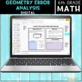 6th Grade Geometry Error Analysis   Digital