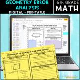 6th Grade Geometry Error Analysis   Digital & Printable Bundle