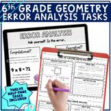6th Grade Geometry Error Analysis   Printable